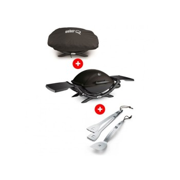 Barbacoa Weber Q 2200 black - gas + FUNDA + ACCESORIOS